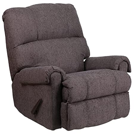 Flash Furniture Contemporary Couger Gray Chenille Rocker Recliner