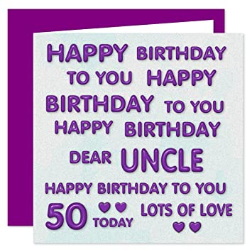 Uncle 50th Happy Birthday Card