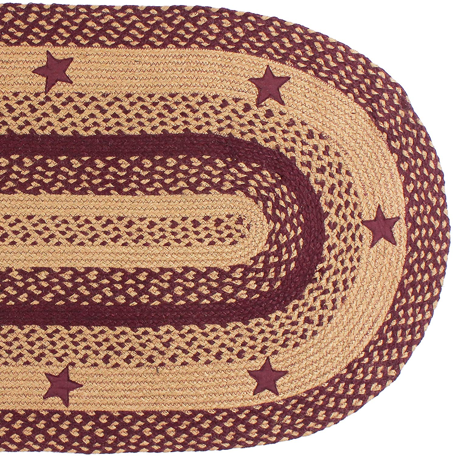 ihf home decor oval floor carpet braided rug 20 x 30