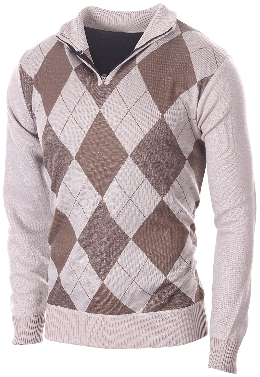 478cafea4e1 Top1  Enimay Mens Argyle V-Neck Golf Long Sleeve Sweater (Many Colors  Available)