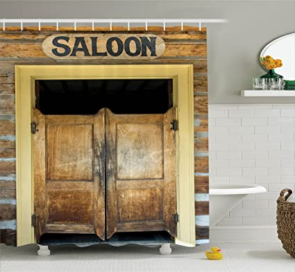 Superbe Ambesonne Saloon Decor Collection, Authentic Saloon Doors Of Old Western  Building In Montana Ghost Town