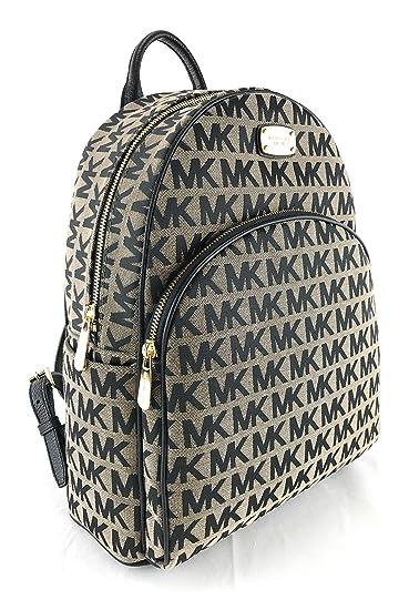 7d8d500a677373 Amazon.com | Michael Kors Abbey Large Jet Set Backpack BG / BLK ...