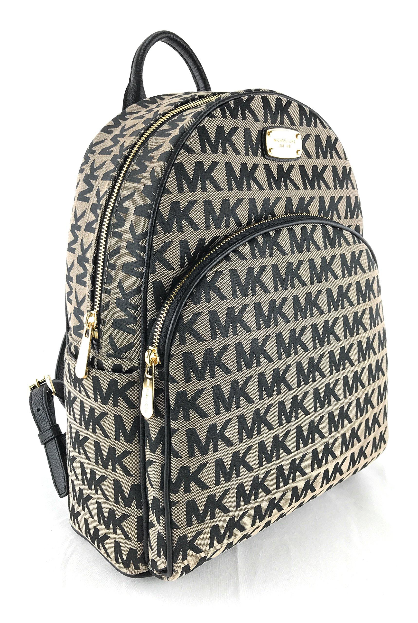 Michael Kors Abbey Large Jet Set Backpack BG / BLK / BLK