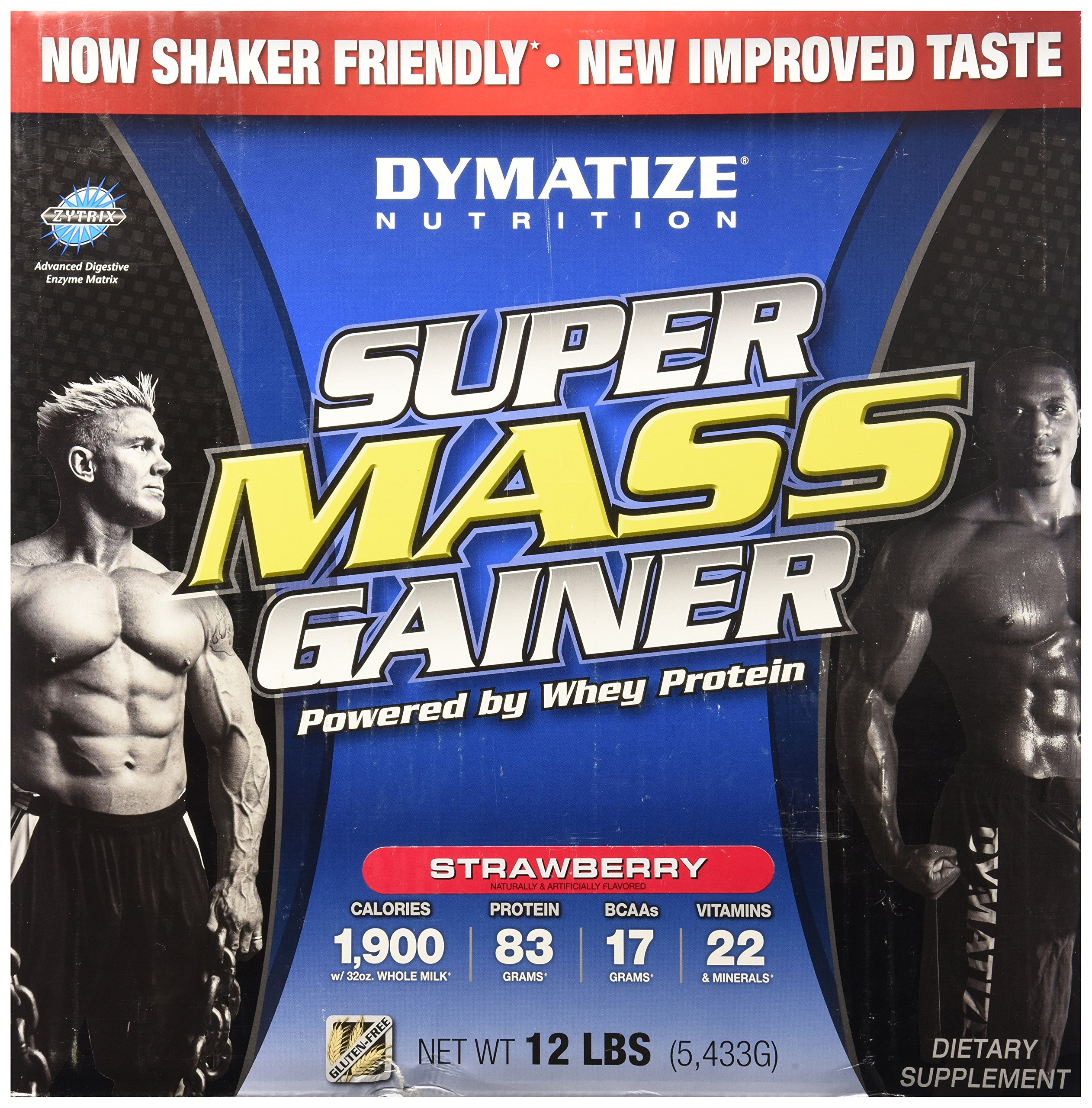 Dymatize Nutrition Super Mass Gainer, Strawberry , 12-Pound