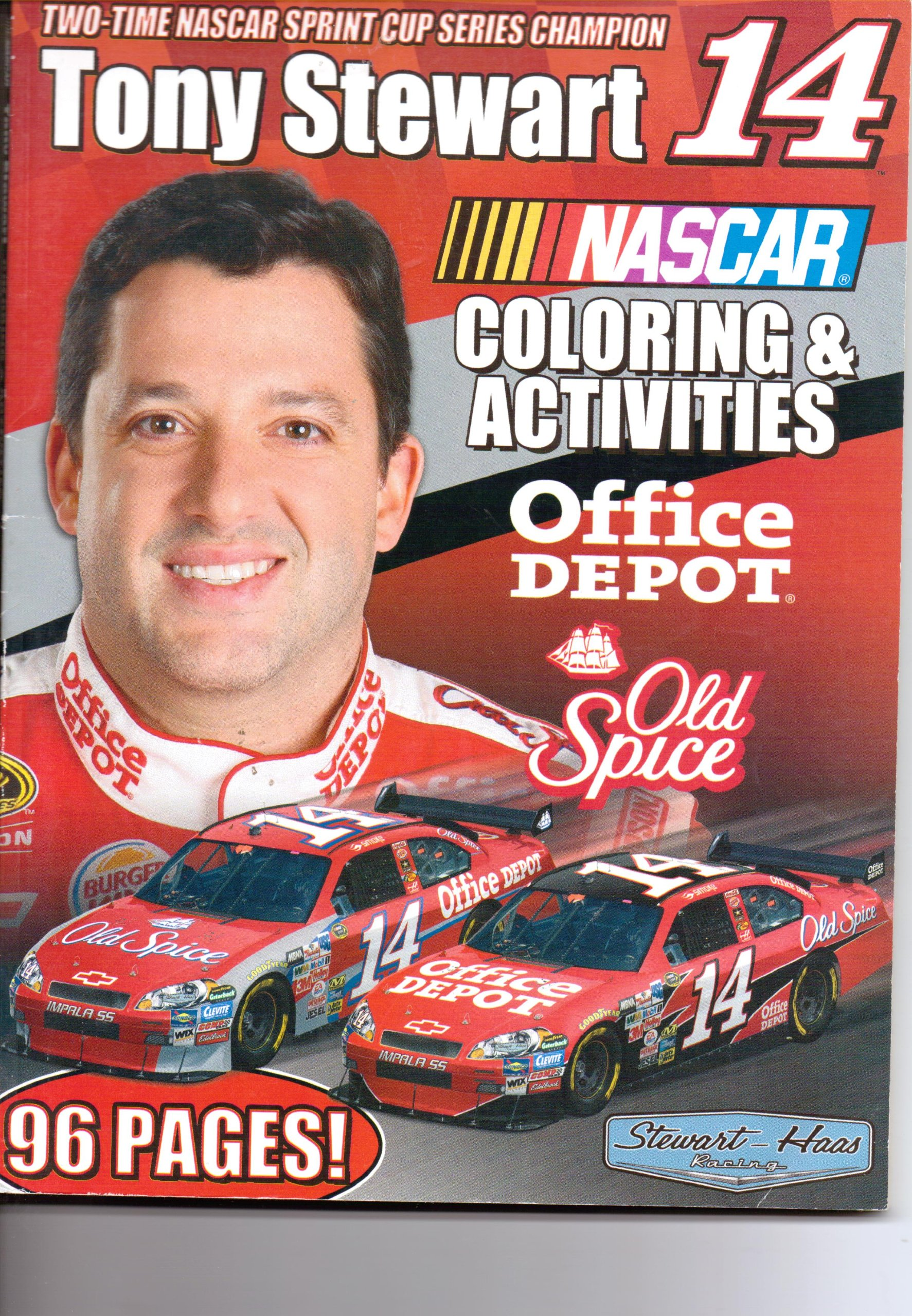 Tony Stewart (Nascar Drivers Coloring Book)