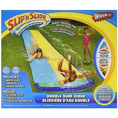 Wham-O Slip 'N Slide Surf Rider Double Sliding Lanes 16ft , color may vary: Toys & Games