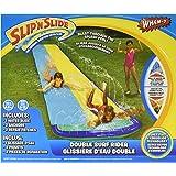 Wham-O Double Surf Rider Slide! Slip N Slide Blast Through Splash Pool Wall of Water on the Bumper