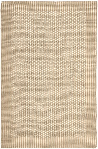 Safavieh Natural Fiber Collection NF449A St Lucia Loop Ivory and Beige Sisal Area Rug 5 x 8