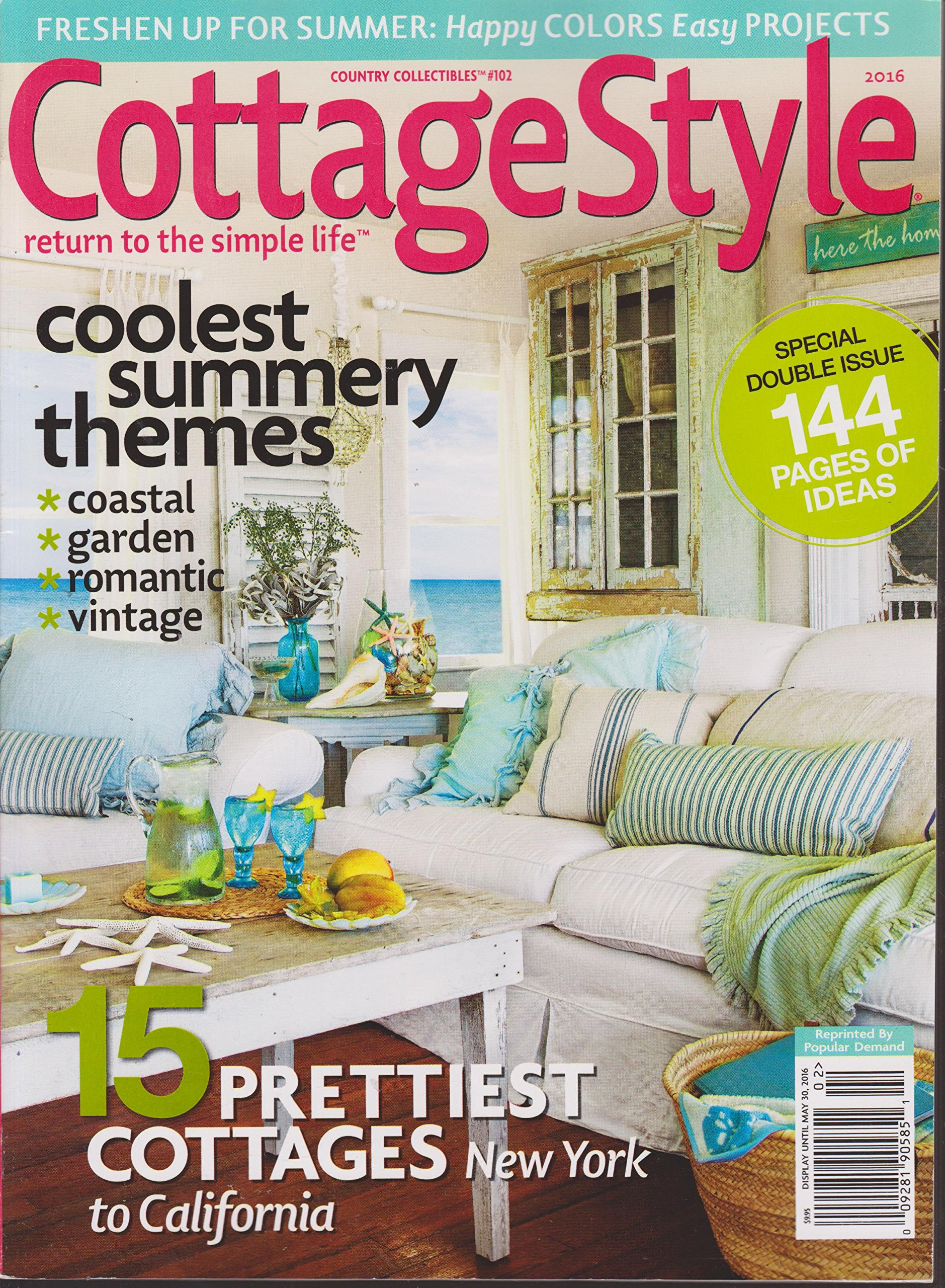 Cottage Style Magazine 2016 Country Collectibles 102 Various