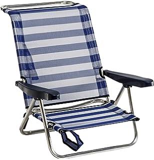 alco silla cama playa aluminio fibreline color