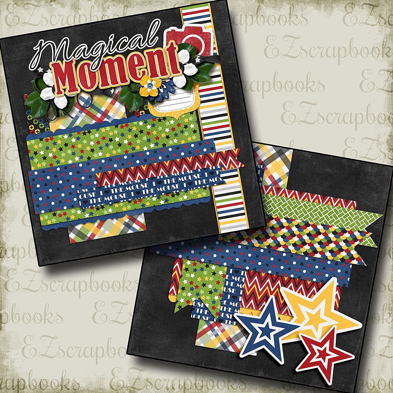 Premade Scrapbook Pages Magical Moment Stars NPM EZ Layout 3195