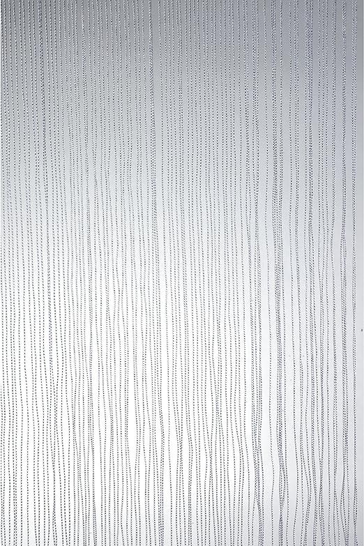 Puerta cortina exterior cortina cortina 100 x 230 cm blanco 150 PVC Cuerdas: Amazon.es: Jardín