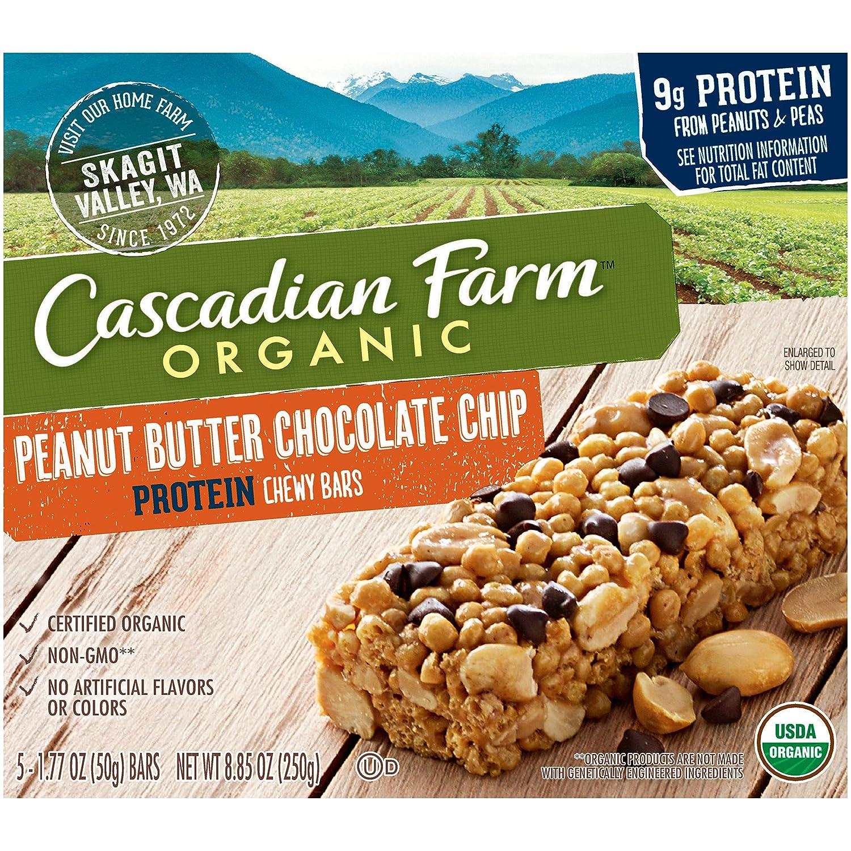 Cascadian Farm Organic non-GMO Protein Chewy Bar Peanut Butter ...
