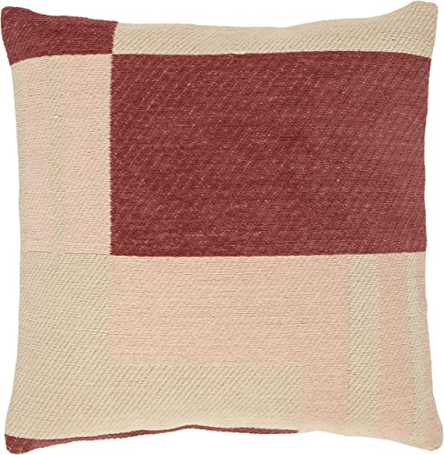 Amazon Brand Rivet Modern Geometric Throw Pillow – 18 x 18 Inch, Pink