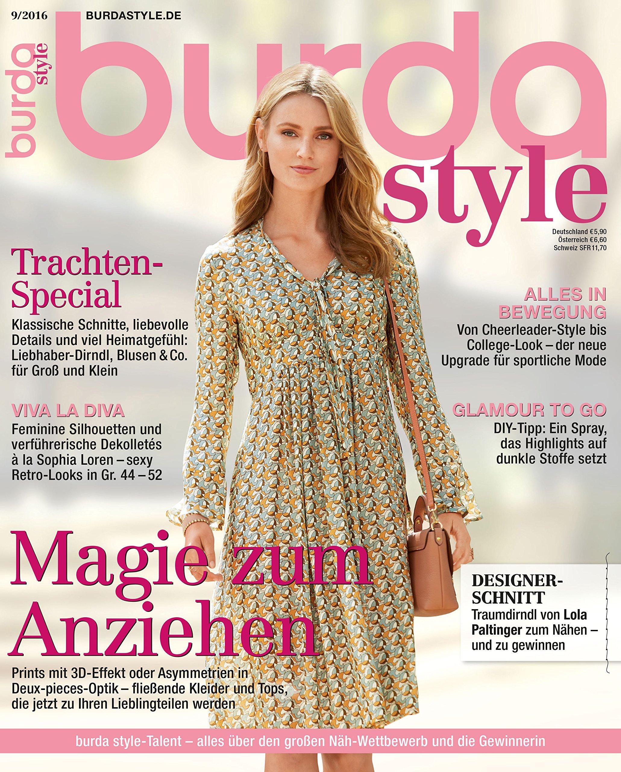 Burda style 2016#09 September-Ausgabe Nähmagazin burda style