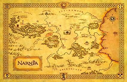 Map Of Narnia Amazon.com: Narnia Map from The Chronicles of Narnia: The Lion