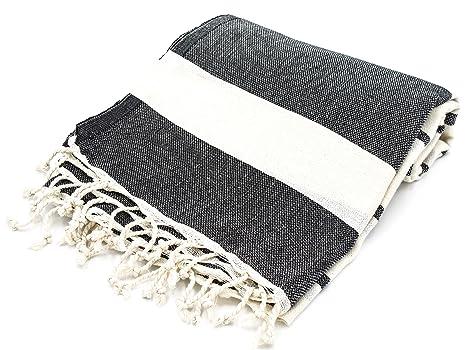 """cottoncloudco Mykonos turco toalla de playa, baño, algodón natural (67 """"x39"""