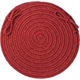 Solid Wool Chair Pad, Barn Red