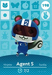 Nintendo Animal Crossing Happy Home Designer Amiibo Card Agent S 198/200 USA Version