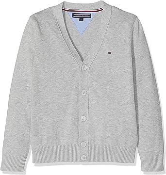 Tommy Hilfiger Boys Basic V-Neck Cardigan suéter para Niños