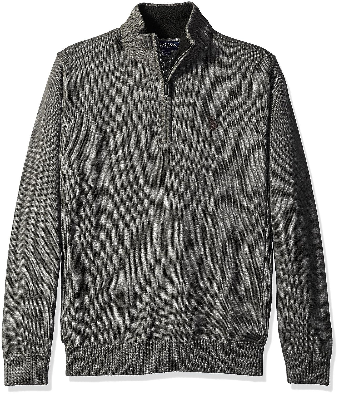 09489e7d4a2 Top11  U.S. Polo Assn. Men s Solid 1 4 Zip with Side Body Rib