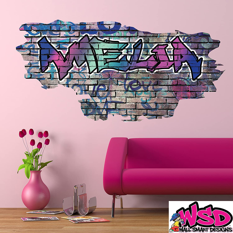 Amazon.com: Custom 2D Rainbow Pastel Colors Multi Color Graffiti ...