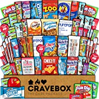 CraveBox Care Package (60 Count) Snacks Food Cookies Granola Bar Chips Candy Ultimate...