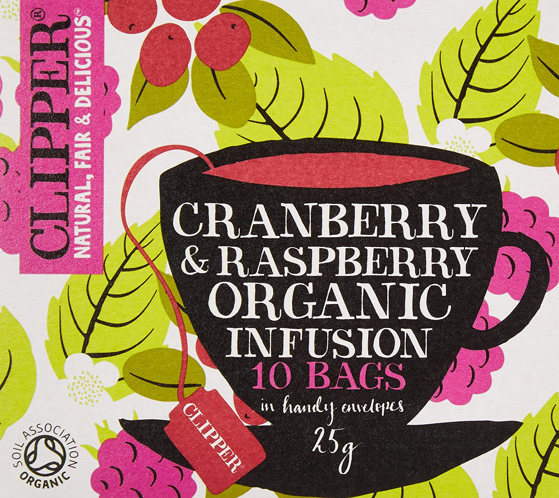 Clipper Teas - Organic Cranberry & Raspberry Tea - 10 Bags CTE07005