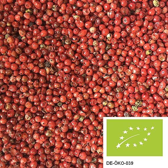 200g de pimienta rosa de agricultura ecológica, bayas rojas enteras de Schinus para el mortero