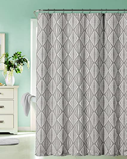 Dainty Home Romance Silver Shower Curtain