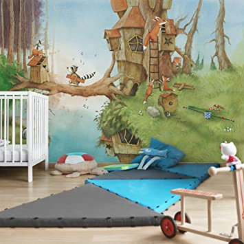 Apalis Kindertapeten Vliestapeten Wassili und Familie Fuchs Fototapete Breit | Vlies Tapete Wandtapete Wandbild Foto 3D Fotot
