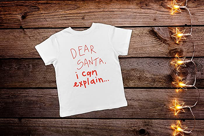 99ad6b2a0 Amazon.com: Dear Santa I Can Explain, Santa Toddler Shirt, Funny Toddler Christmas  Shirt, Kids Christmas Shirts, Toddler Christmas Shirt, Toddler Christmas ...