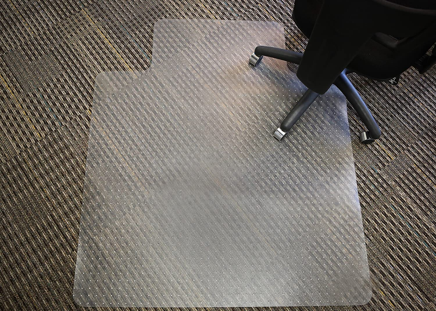Mammoth Office Products PVC Plastic Chair Mat for Standard Pile 3 8-Inch in or Less Carpeting, 48 x 60 Inches Rectangular with Lip for Under-Desk V4660LSP
