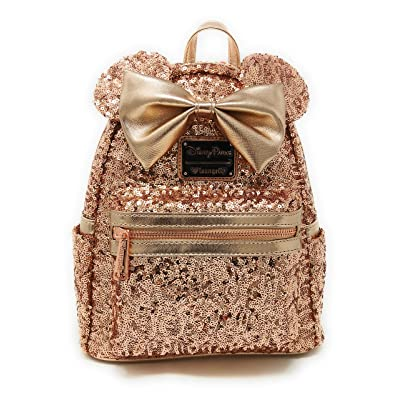 Disney Loungefly Rose Gold Backpack —SOLD OUT HARD TO FIND—- last one!!—— NEW Minnie Mouse Rose Gold Ears, Disney park | Kids' Backpacks