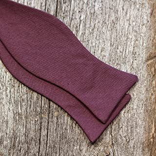 product image for Men's 50/50 Cotton Linen Blend Plum Bow Tie