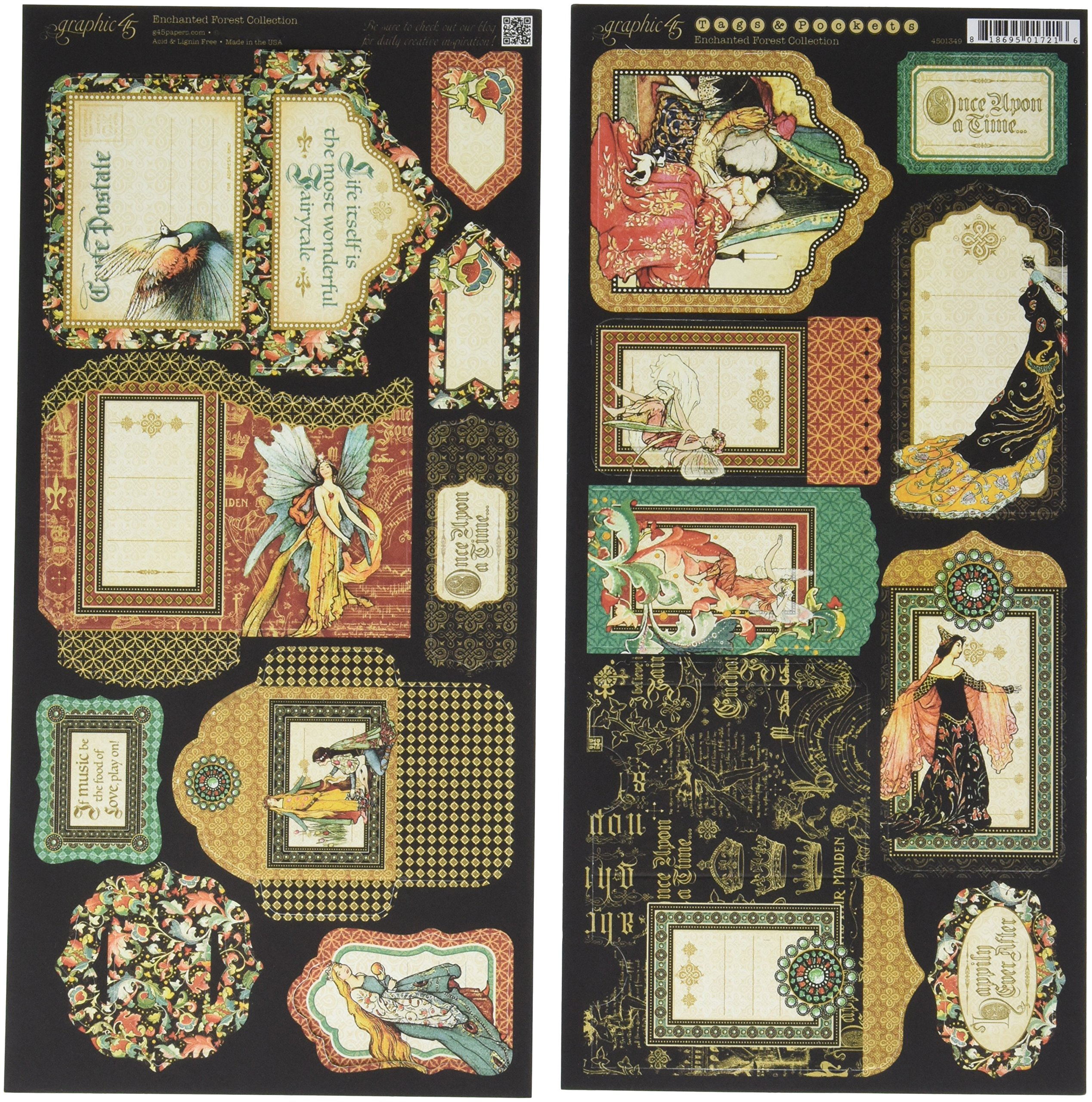 Enchanted Forest collection Brilliant Gem Graphic45  2 sheets