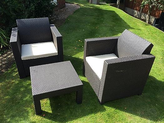 Perfecto Muebles De Jardín De Plástico Conjunto De Reino Unido ...