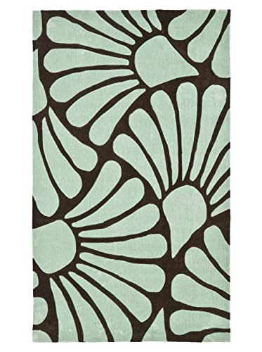 Safavieh Modern Art Collection MDA613A Handmade Contemporary Floral Brown and Blue Polyester Area Rug 4 x 6