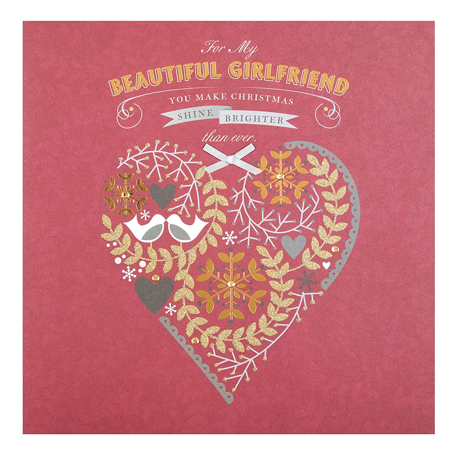 Amazon Hallmark Girlfriend Christmas Card Beautiful