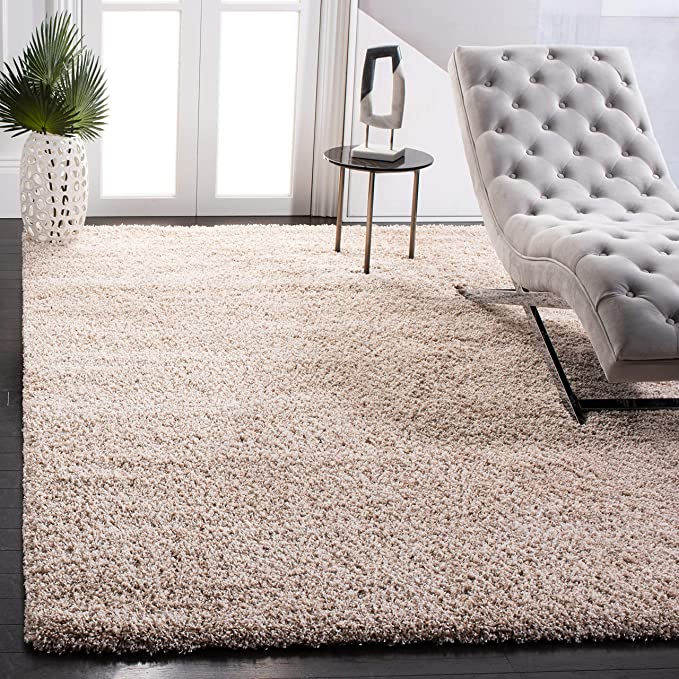 Amazon Com Safavieh California Premium Shag Collection Sg151 2 Inch Thick Area Rug 8 X 10 Beige Home Improvement