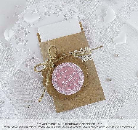 Set grande: 48 Alegría Tears Sticker + 48 marrón plano Bolsa – Papel de estraza