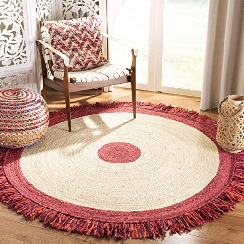 Safavieh CAP212Q-6R Cape Cod Collection Area Rug 6' Red