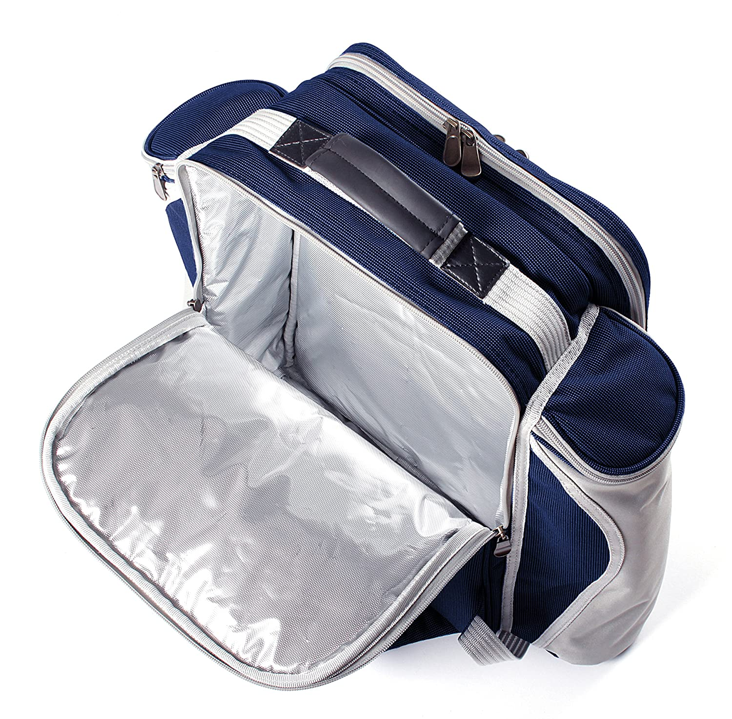 Greenfield Collection - Cesto Mochila de Picnic - Color Azul de ...