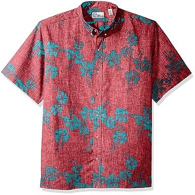2f8ead70 Reyn Spooner Men's 50th State Flower Spooner Kloth Classic Fit Hawaiian  Shirt, Red, ...