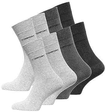 163569ddb57 Lot de 8 paires de chaussettes classiques - logo COMFORT - sans elastique -  homme -