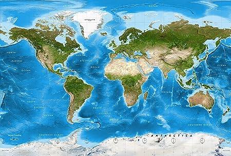 Amazon.com: Academia Maps - World Map Wall Mural - Detailed ...
