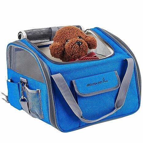 Transportín de viaje seguro para asiento de coche para gato, perro ...