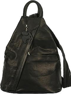 Big Handbag Shop Para mujer suave correa de piel mochila Convertible bolsa – fabricado en Italia con una marca protectora Bolsa…