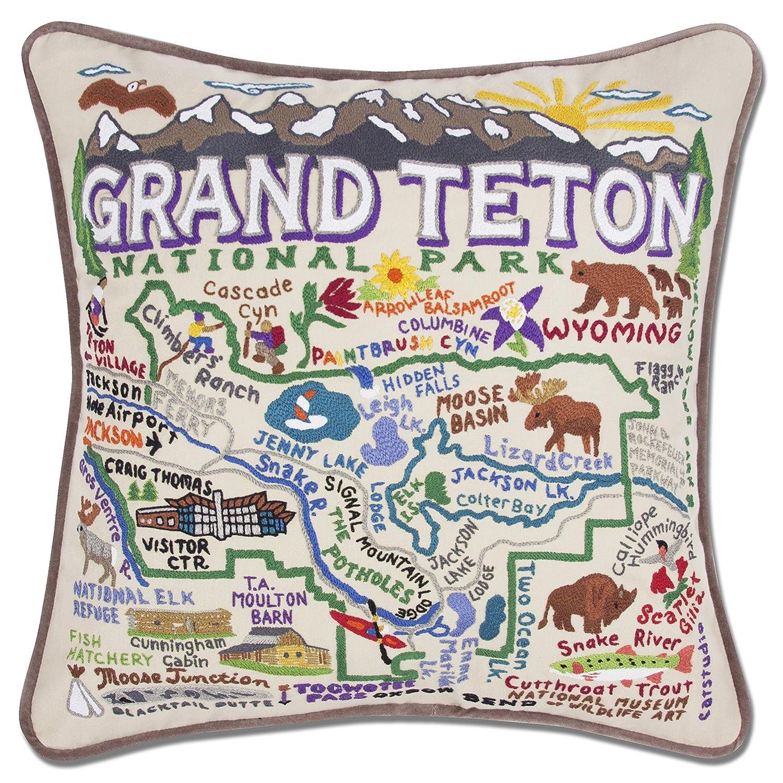 Grand Teton手刺繍枕 ndash; Catstudio  B06Y4G68PD