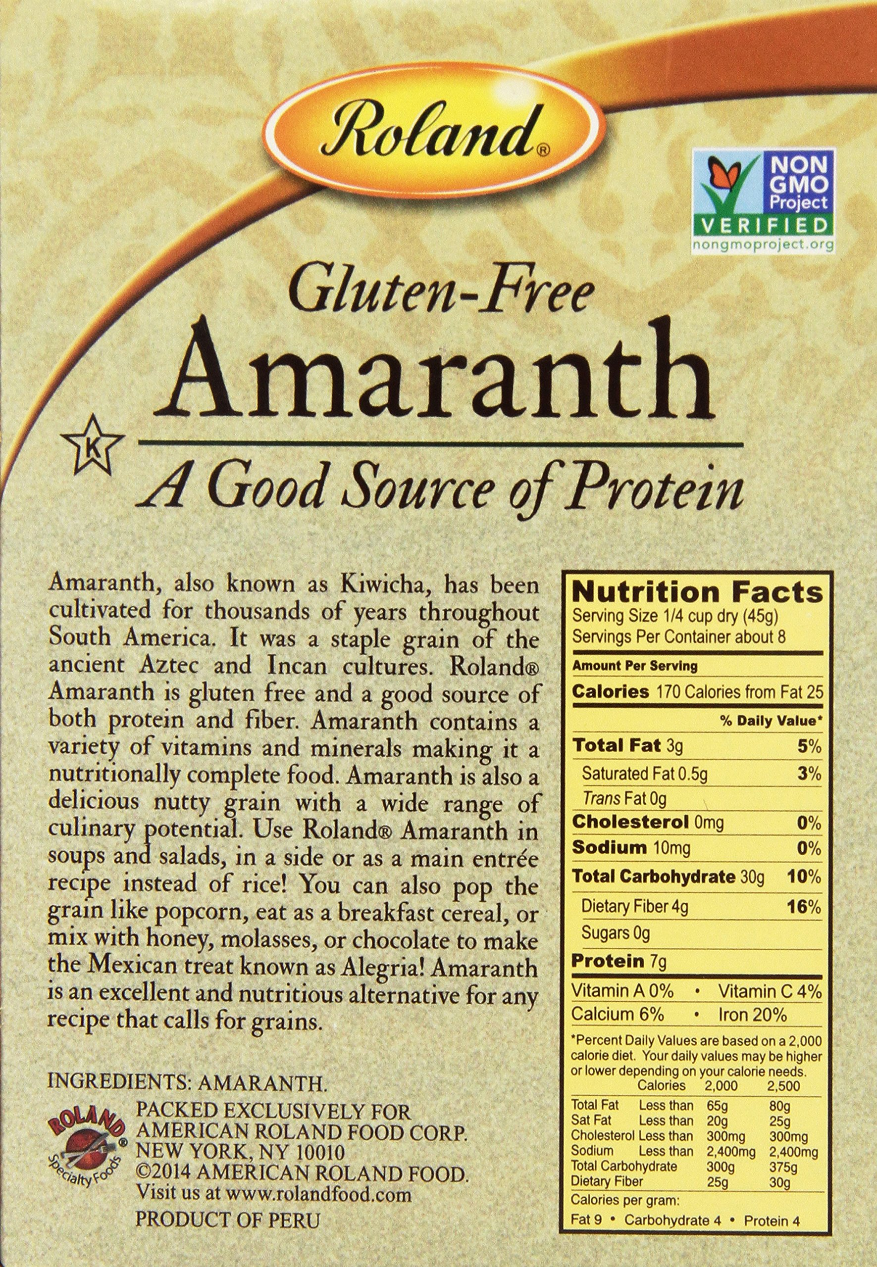 Roland Foods Amaranth, 12 Ounce (Pack of 4)